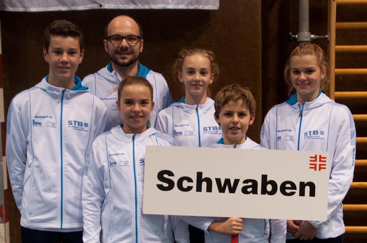 Im Bild die Ruiter Teilnehmer bei dem Wettkampf, v.l. Tim Ettischer, Thorsten Scheibler, Hannah Scheffel, Nadine Schwartz, Simon Hofmann, Melina Mayer.