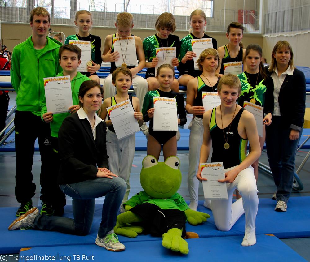 Die Ruiter Mannschaft bei den Baden-Württ. Einzel