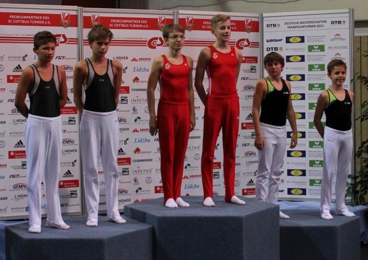 Siegerehrung mit Simon Hofmann (rechts außen)